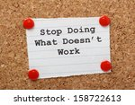 the phrase stop doing what... | Shutterstock . vector #158722613