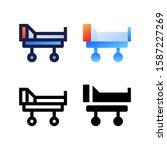 bed medical logo icon design in ...