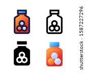 vitamin logo icon design in...