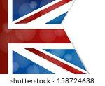 uk flag background | Shutterstock .eps vector #158724638