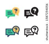 question logo icon design in...