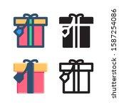 gift logo icon design in four...