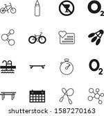 fitness vector icon set such as ...
