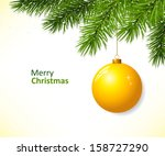 christmas branch with hanging... | Shutterstock .eps vector #158727290