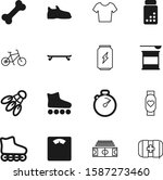 fitness vector icon set such as ... | Shutterstock .eps vector #1587273460