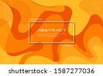dynamic orange color background.... | Shutterstock .eps vector #1587277036