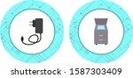 2 icon set of electronic...