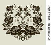 vector ornamental decorative...   Shutterstock .eps vector #158731034