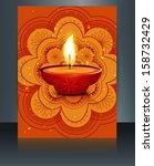 happy diwali celebration...   Shutterstock .eps vector #158732429