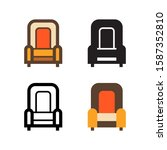 arm chair logo icon design in...