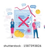 contract cancelation.... | Shutterstock .eps vector #1587393826