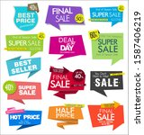 sale banner templates design... | Shutterstock . vector #1587406219