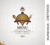 restaurant menu. | Shutterstock .eps vector #158743433