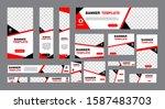 set of modern web banners of... | Shutterstock .eps vector #1587483703