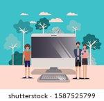 people design  digital... | Shutterstock .eps vector #1587525799