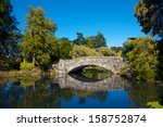 Romantic Old Stone Bridge Over...