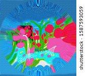 innovative abstract shapes...   Shutterstock . vector #1587593059
