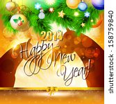 2014 happy new year card or... | Shutterstock .eps vector #158759840