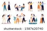 women friends. girlfriends...   Shutterstock . vector #1587620740