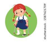 vector illustration of little... | Shutterstock .eps vector #1587621709
