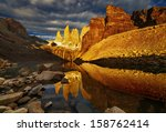 Постер, плакат: Towers with reflection at
