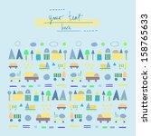 fun geometric cut out pattern... | Shutterstock .eps vector #158765633