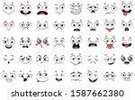 cartoon faces. expressive eyes... | Shutterstock . vector #1587662380