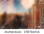 vintage distressed blurry old... | Shutterstock . vector #158766416