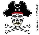 vector cartoon skull with...   Shutterstock .eps vector #158767043