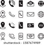 business contact information...   Shutterstock .eps vector #1587674989