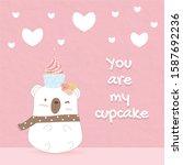 Little Sweet Bear Has Cupcake...