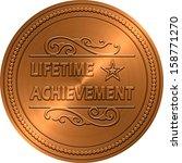 bronze embossed lifetime... | Shutterstock . vector #158771270
