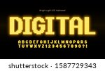 shining led light alphabet ... | Shutterstock .eps vector #1587729343