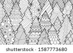 Line Art Of Christmas Tree For...