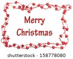 christmas frame with merry... | Shutterstock . vector #158778080