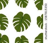 seamless pattern of monster... | Shutterstock .eps vector #1587815350