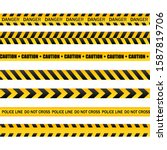 caution and danger tapes.... | Shutterstock .eps vector #1587819706