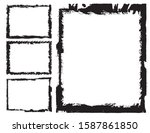 abstract grunge border frames... | Shutterstock .eps vector #1587861850