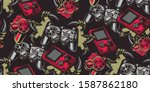 color seamless pattern on a... | Shutterstock .eps vector #1587862180