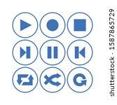 media player button icom set...