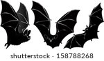 set of Vector Vampire bat