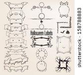 halloween labels   Shutterstock .eps vector #158788883