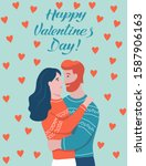 valentine's day lettering card. ...   Shutterstock .eps vector #1587906163