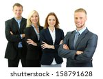 group of business people... | Shutterstock . vector #158791628