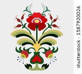 seasonal composition  branch... | Shutterstock .eps vector #1587920026