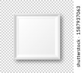 realistic blank white picture... | Shutterstock .eps vector #1587937063