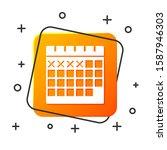 white calendar icon isolated on ...