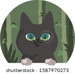 cat with blue eyes and white... | Shutterstock .eps vector #1587970273