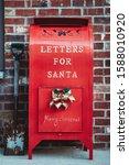 Letter Box For Santa. Red Box...