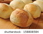 Fresh Baked Dinner Rolls On A...